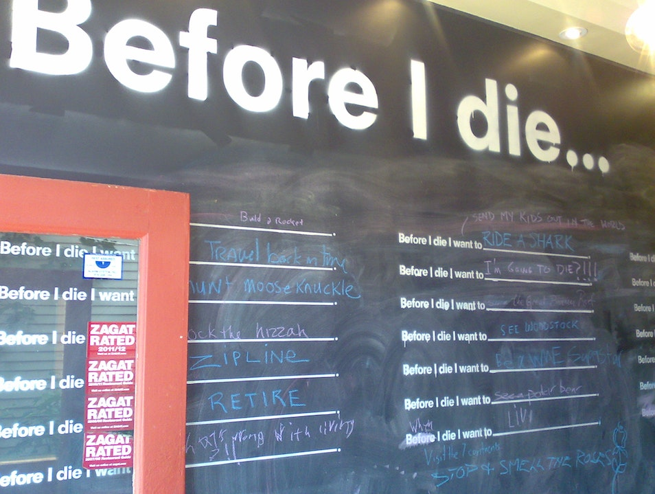 Before I Die... Woodstock New York United States