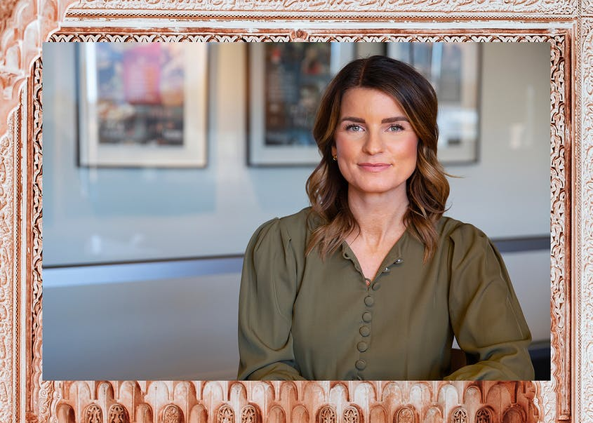 Katie Briscoe is the first woman president of MMGY Global, an advertising agency specializing in travel, tourism, and hospitality.