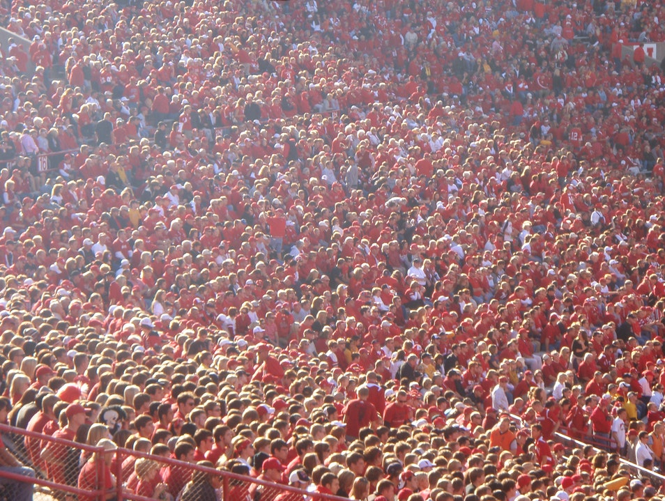 Sea of Red Lincoln Nebraska United States