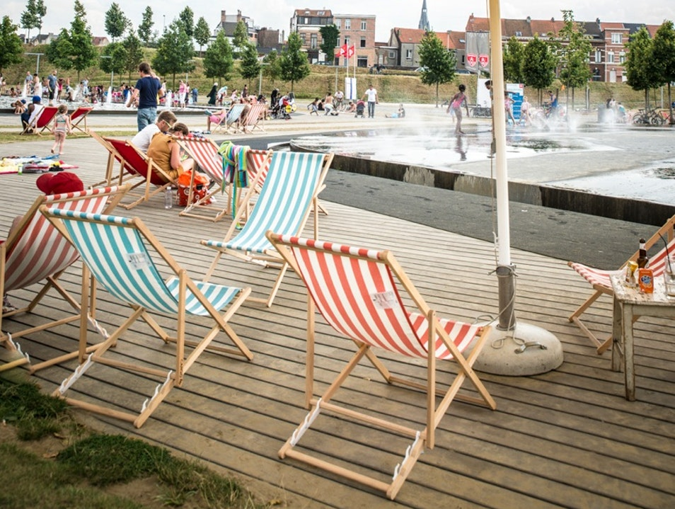 Enjoy a Day at the Beach at Park Spoor Noord Antwerp  Belgium