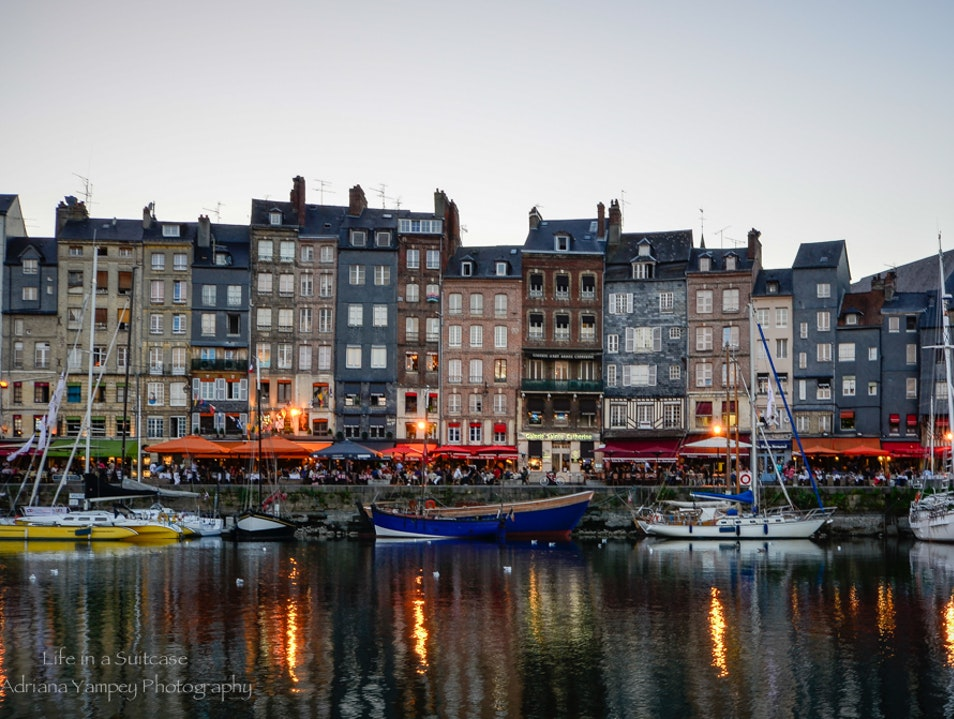 Evening in the harbor Honfleur  France