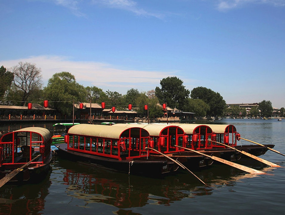 Boating on Houhai Beijing  China