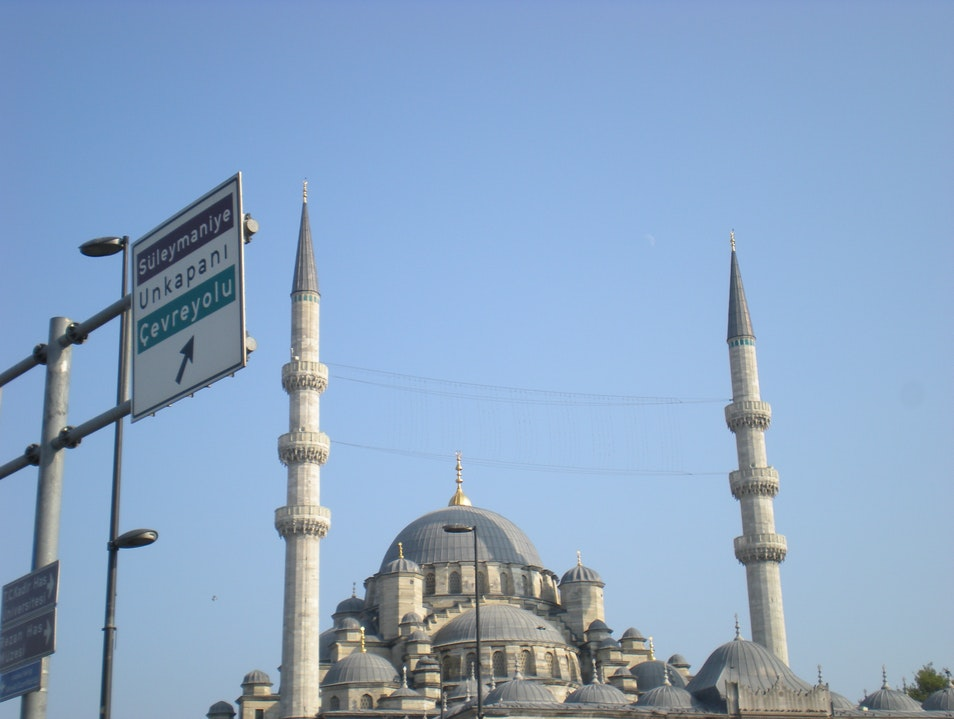 Mosque This Way Istanbul  Turkey