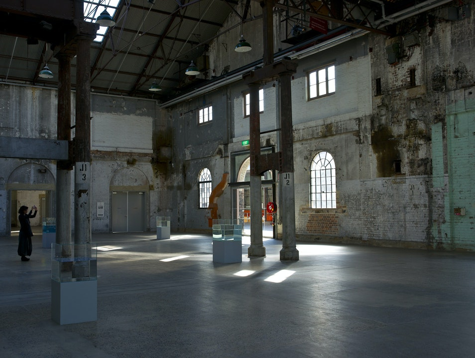 Contemporary Art in 19th Century Rail Yard Eveleigh  Australia