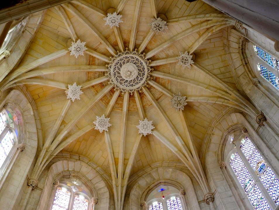 The Ceiling of Batalha's Founder's Chapel Batalha  Portugal
