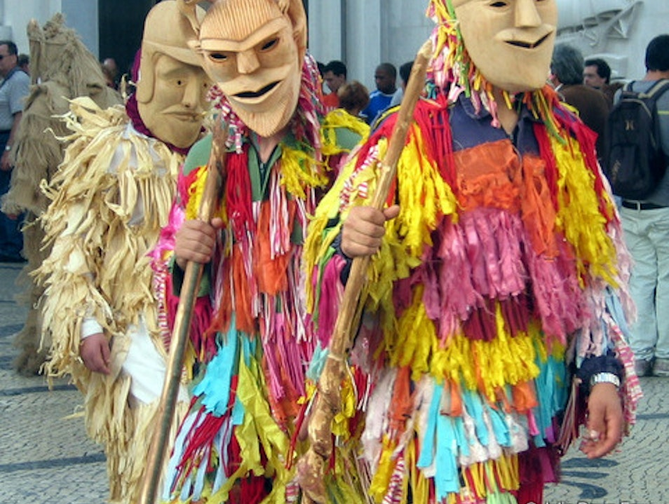 Crazy costumes at the Iberian Mask Festival Lisbon  Portugal
