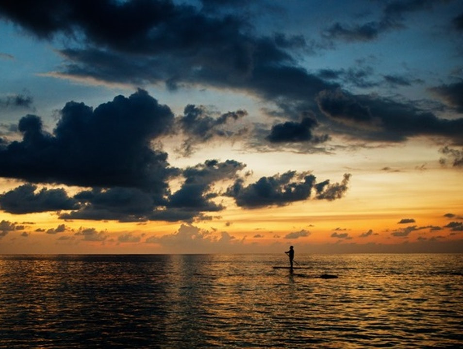 Try Your Luck at Paddleboarding on Seven Mile Beach   Cayman Islands