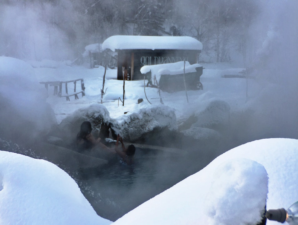 Relax in Hot Springs Surrounded by Snow