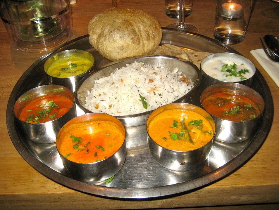 An Authentic Thali at Rajdhani New Delhi  India