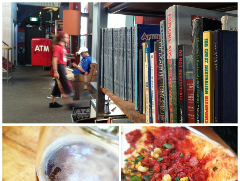 Beer and Artisan Pizza in a Waterfront Brewery