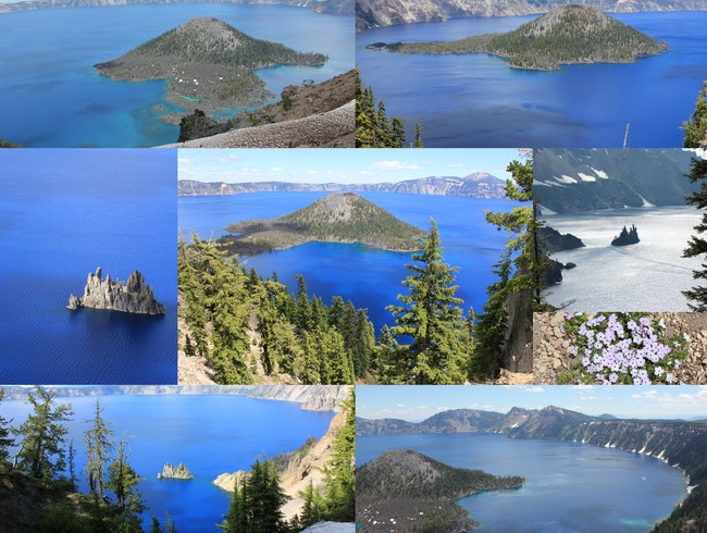 Many Moods of Crater Lake...