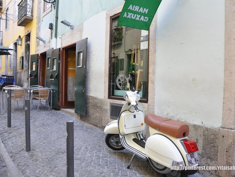 The most popular bar in Bairro Alto Lisbon  Portugal