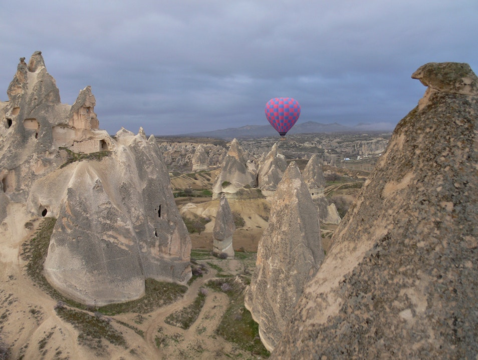 Hot air ballooning over the Cappadocia's in Turkey