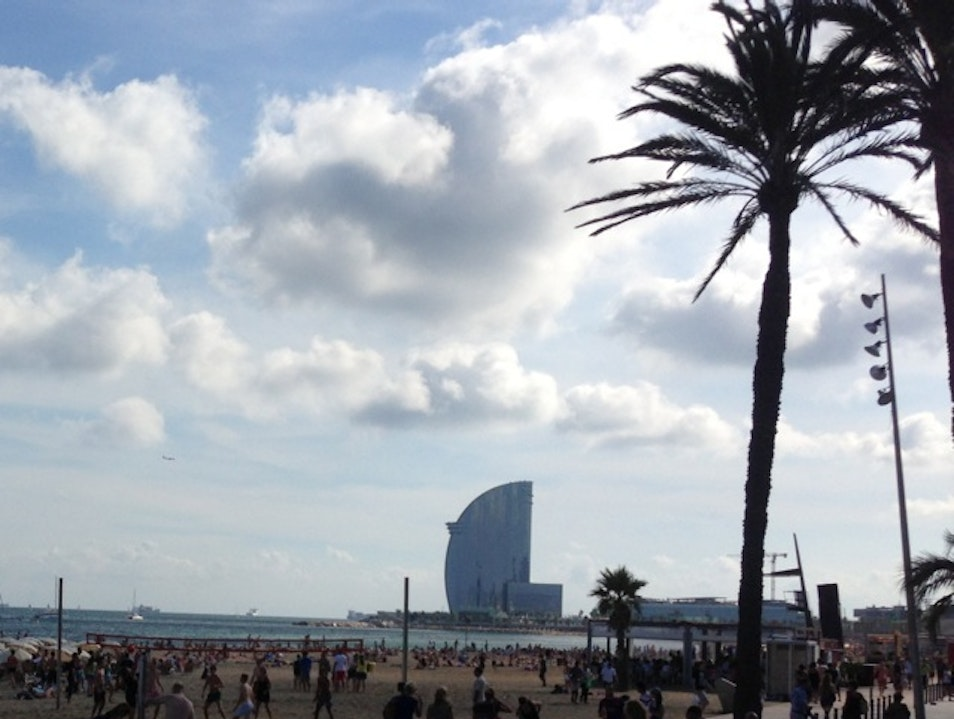 Stay on the beach at the W Barcelona Barcelona  Spain