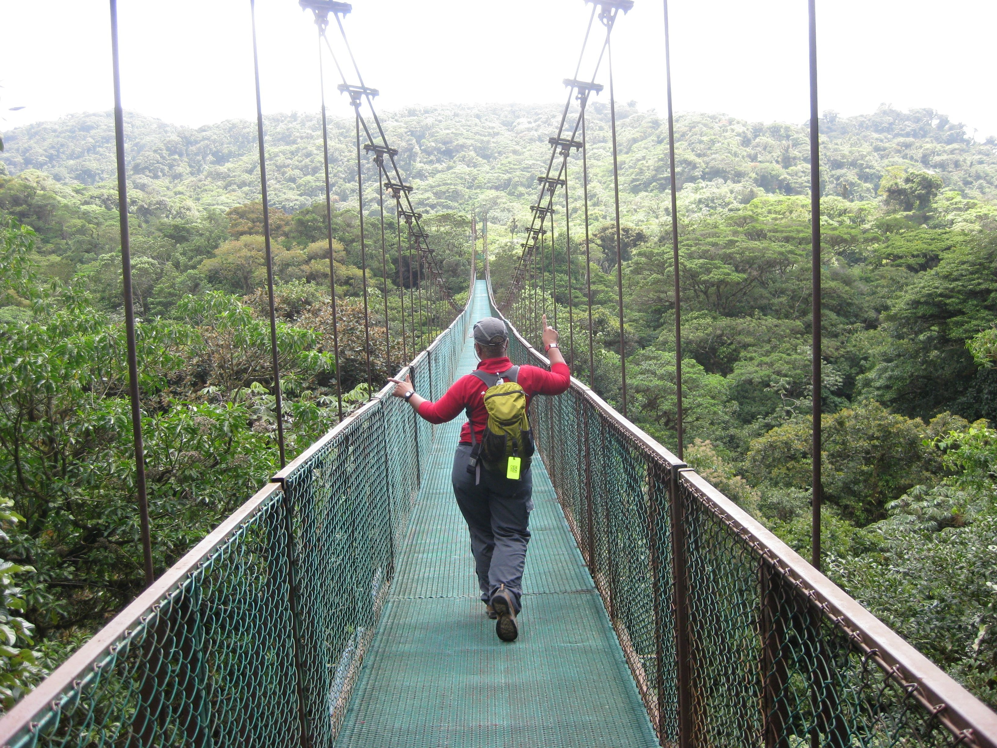 Dancing across the suspension bridge almost 2 miles of walkways high above the Monteverde canopy & Monteverde - suspension bridge canopy tour| Puntarenas | AFAR