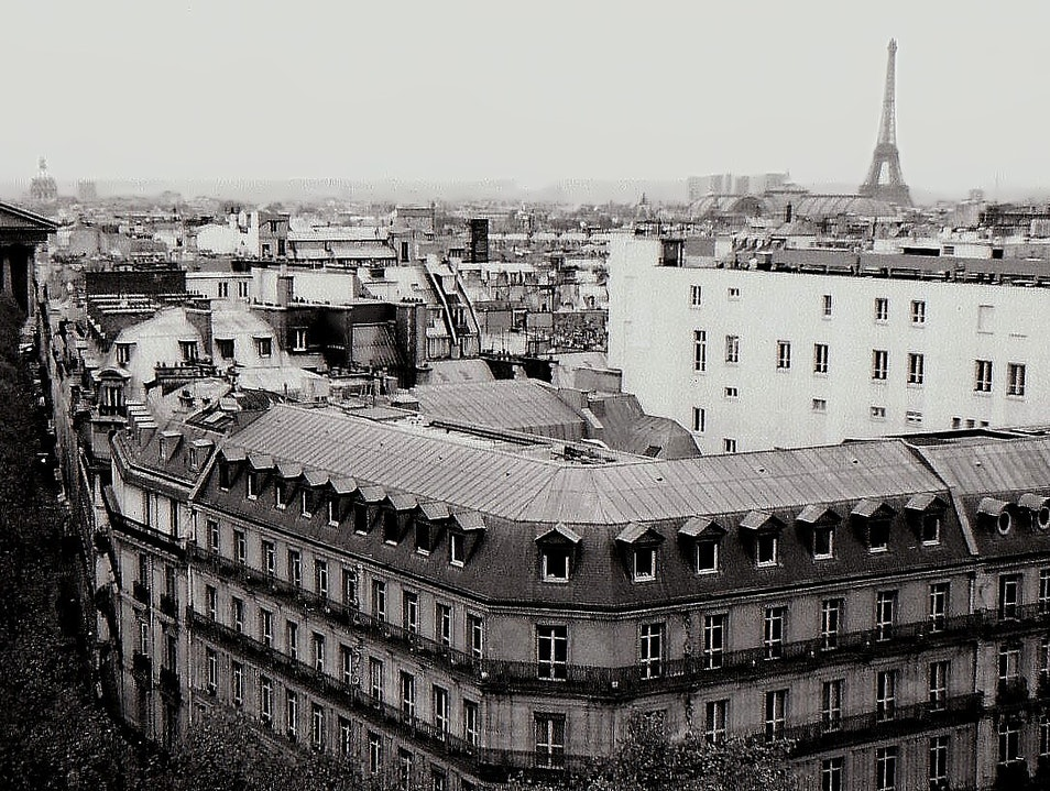 winter skyline, on top of the world in Paris