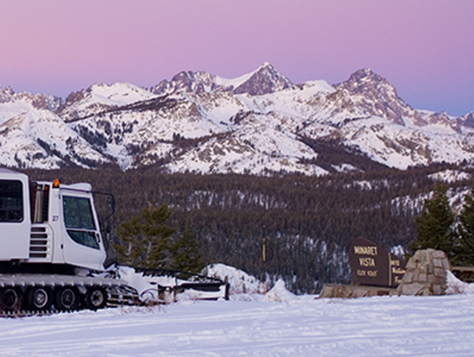 Food Truck on the Mountaintop Mammoth Lakes California United States