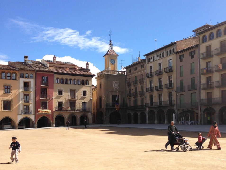 Shop and soak up the sun in Vic's main square Vic  Spain