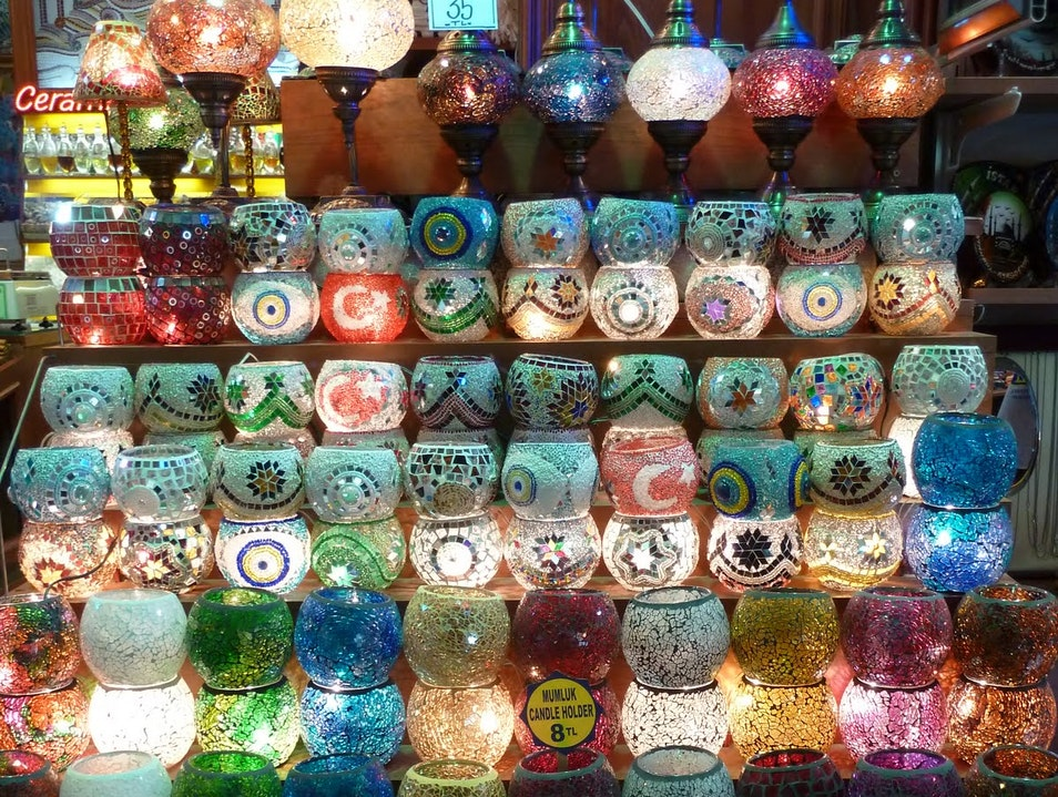 Candle holders at the Grand Bazaar Istanbul  Turkey