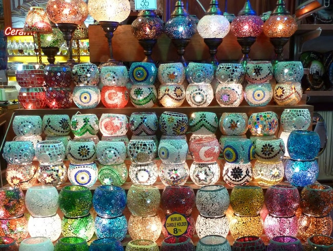Candle holders at the Grand Bazaar