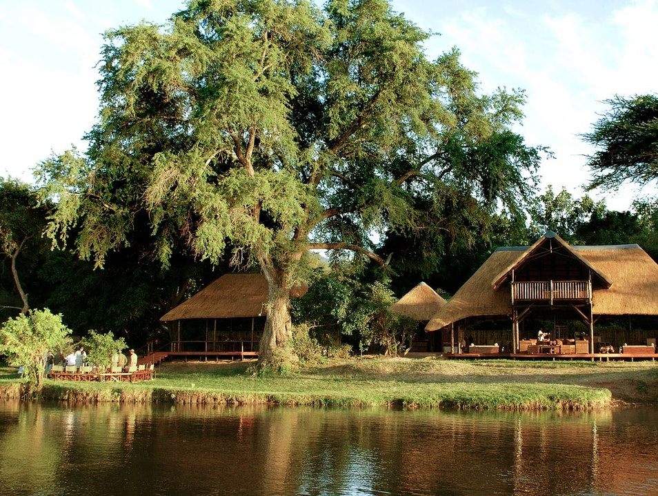 A Haute-Rustic Lodge on the Lower Zambezi Chiawa  Zambia