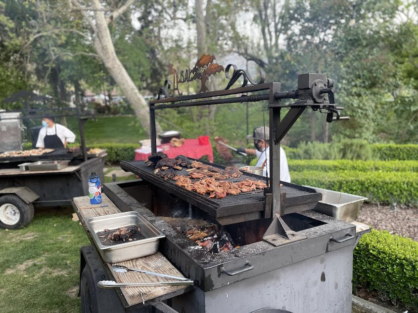 Alisal's California Ranch Cookouts highlight barbecued, smoked, and grilled dishes.