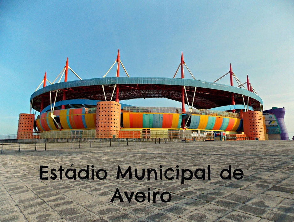 World's most colorful stadium?? Esgueira  Portugal