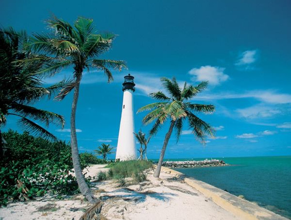 Climb to the Top of a Historic Lighthouse Key Biscayne Florida United States