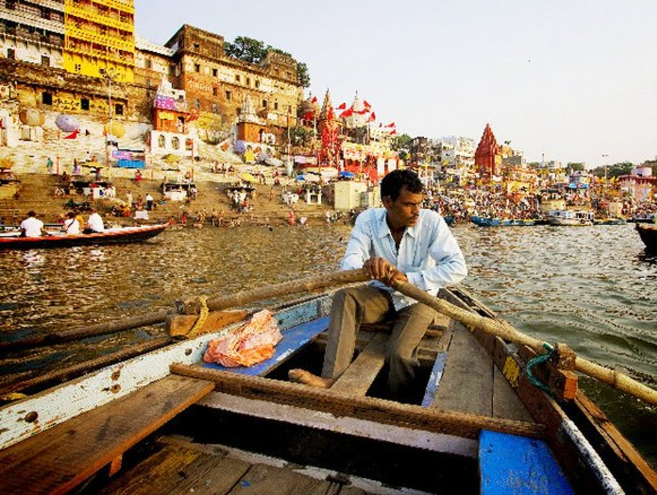 The Holy River at Varanasi Varanasi  India