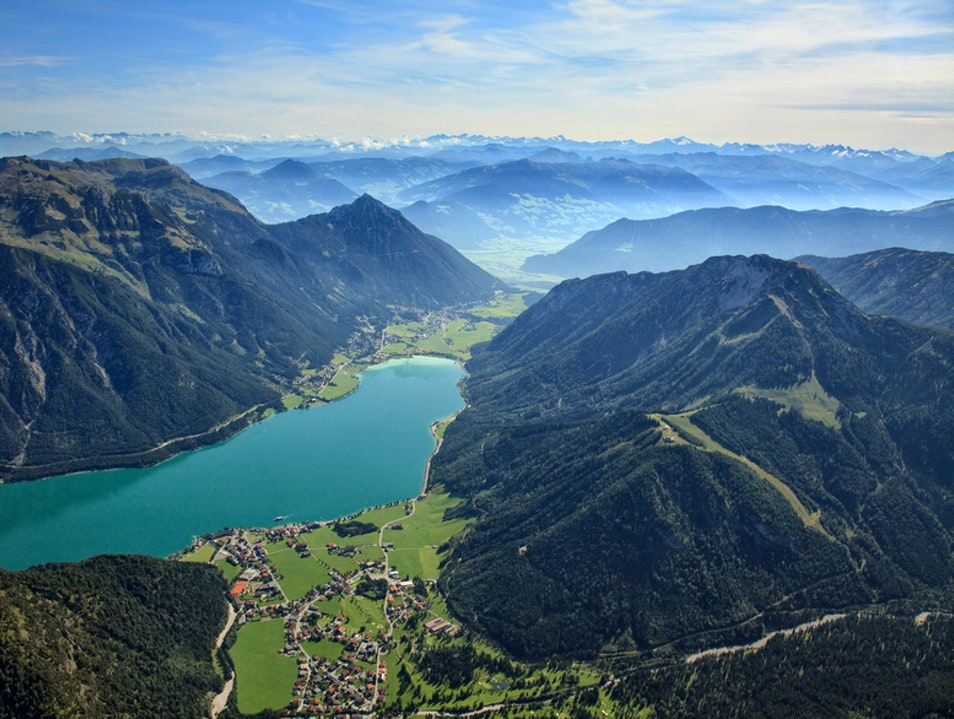 Swim in the emerald green waters of Achensee Achenkirch  Austria
