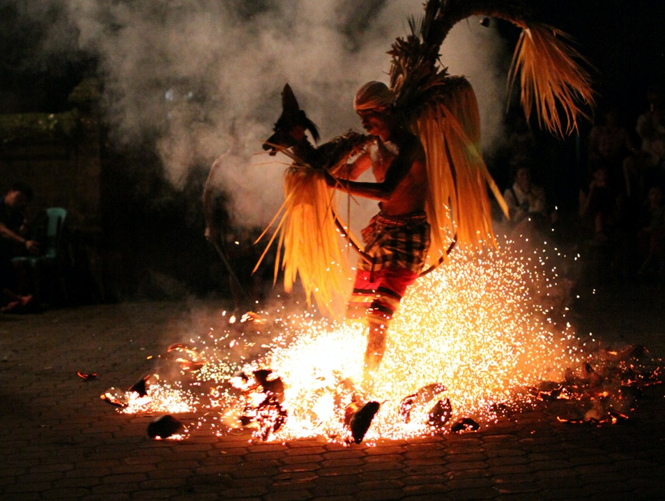 Balinese kecak fire and trance dance. Ubud  Indonesia