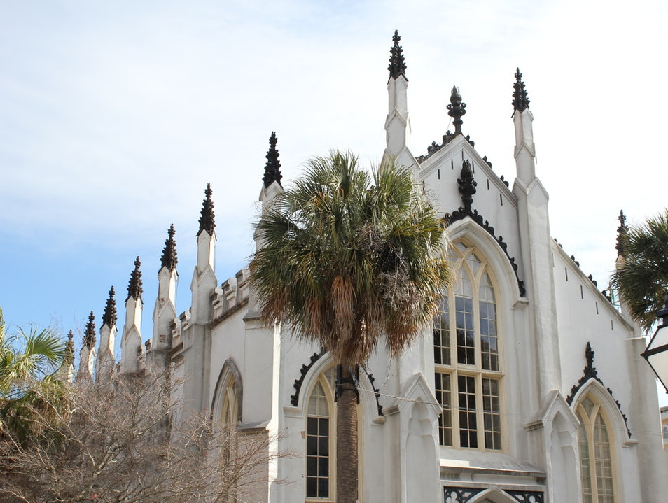 French Huguenot church in the French Quarter Charleston South Carolina United States