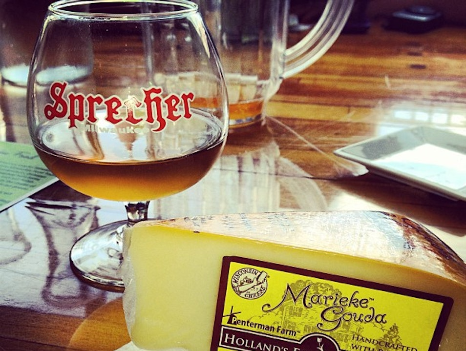Cheese and Beer Pairing at Wisconsin Cheese Mart Milwaukee Wisconsin United States