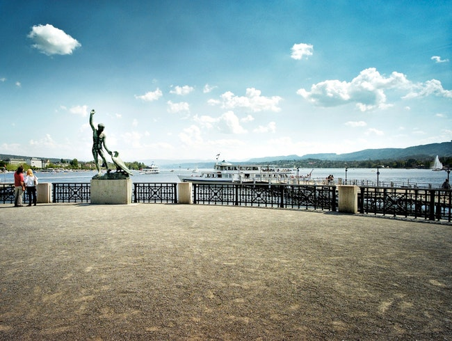 Zurich's Iconic Spot for Lake-Gazing