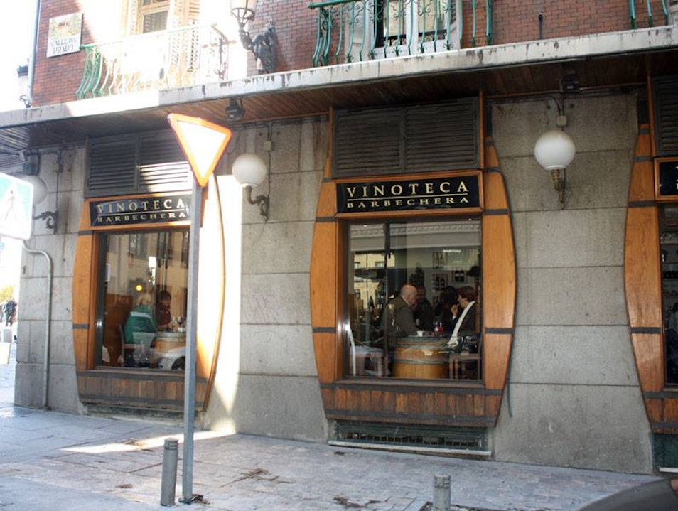 Savory Tapas in a Wine Barrel Bar Madrid  Spain