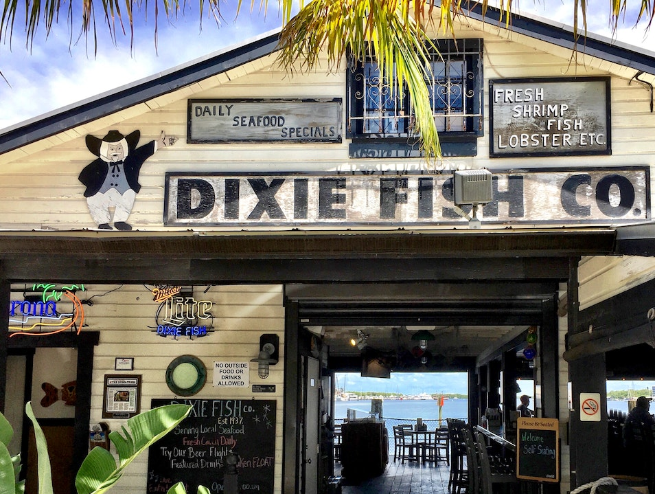 An Old Florida-Style Seafood Joint at the Beach Fort Myers Beach Florida United States