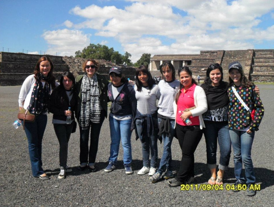 Met local school girls at pyramids State of Mexico  Mexico