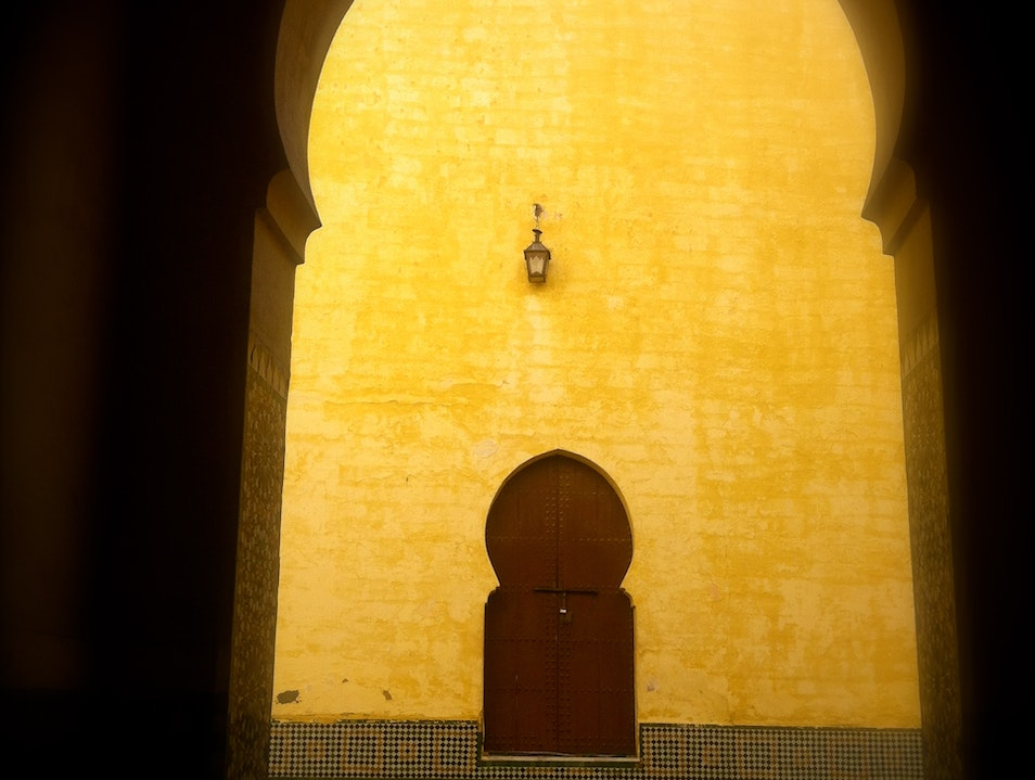 A Mausoleum Worth Visiting Meknes  Morocco