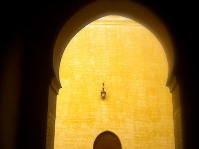 Moulay Ismail's Tomb Meknes  Morocco
