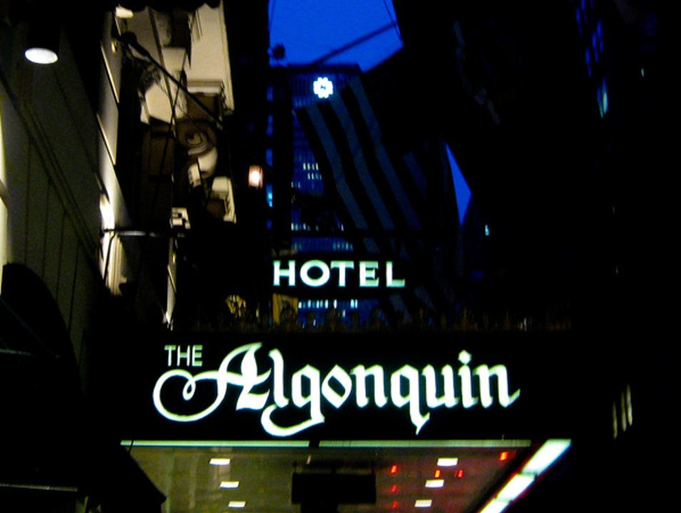 Algonquin Hotel - for lovers of literature and  old- time New York