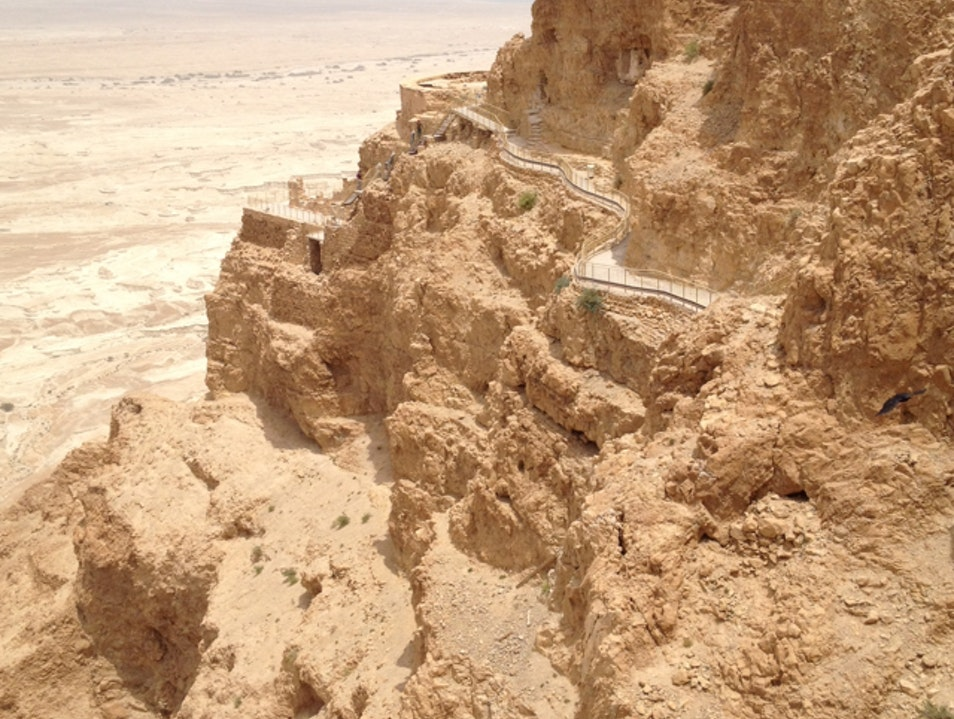 An Amazing fortress above the Dead Sea