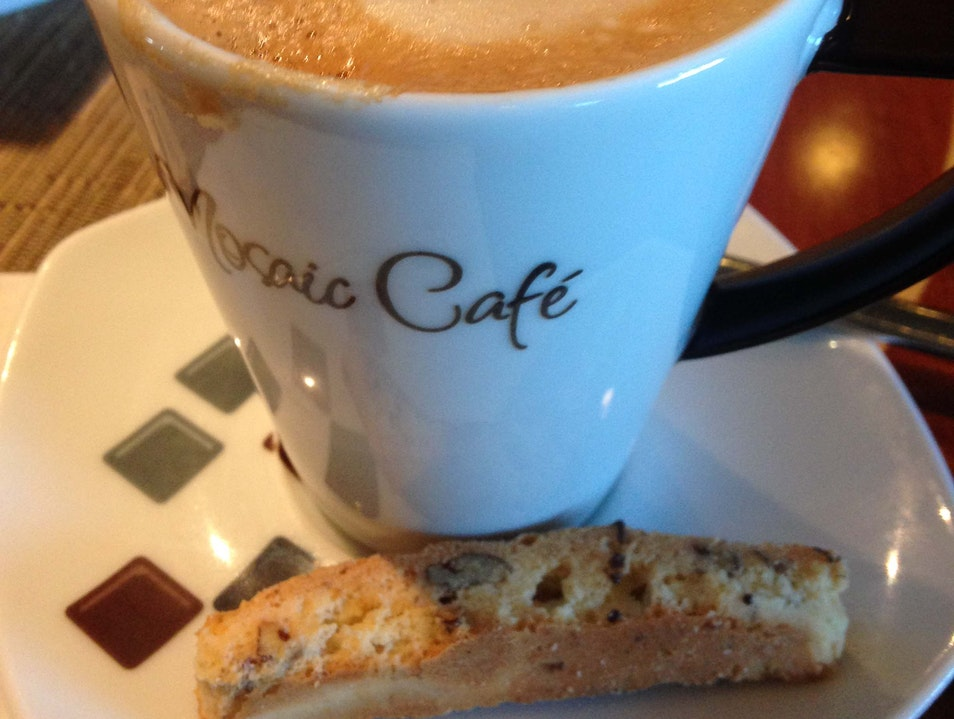 Sipping coffee on the Azamara Quest  Cairns  Australia