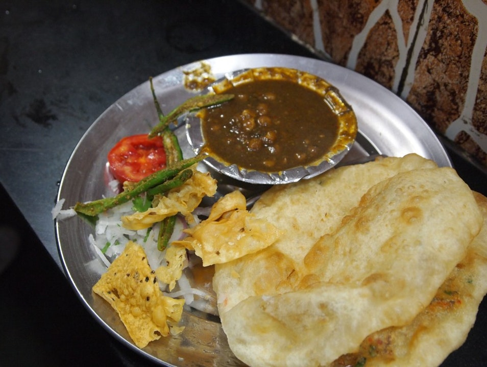 Chole Bhature at Chacha Delhi  India