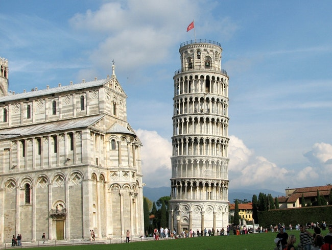 Everything leans a little in Pisa!