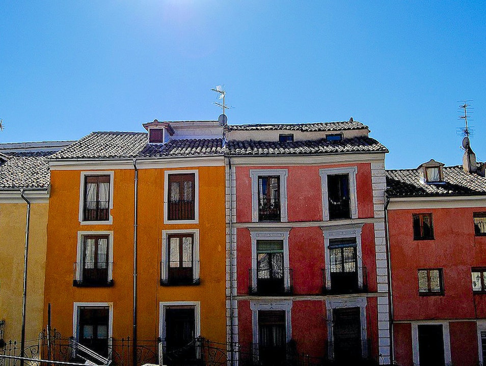 Colors on the top of the hill!  Cuenca  Spain