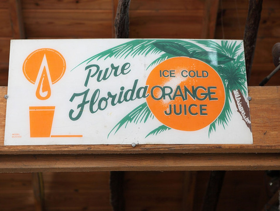 Retro Florida Souvenirs and Oranges Dania Beach Florida United States