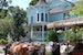 Horses, buggy, and pretty house  Mackinac Island Michigan United States