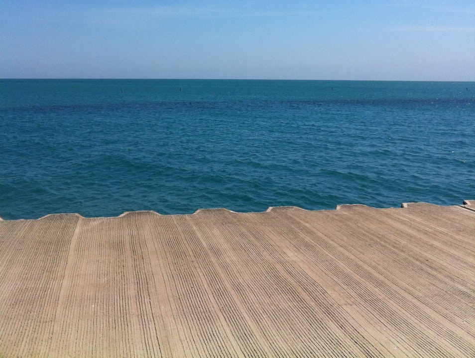 Lake Michigan in the summertime Chicago Illinois United States