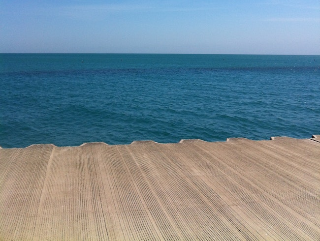 Lake Michigan in the summertime