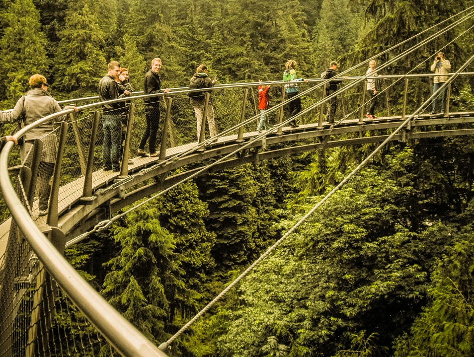 Cliffwalk at Capilano Suspension Bridge Park Vancouver  Canada